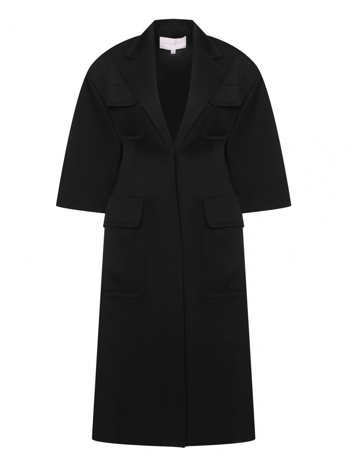 Пальто из шерсти с накладными карманами Carolina Herrera  –  Общий вид