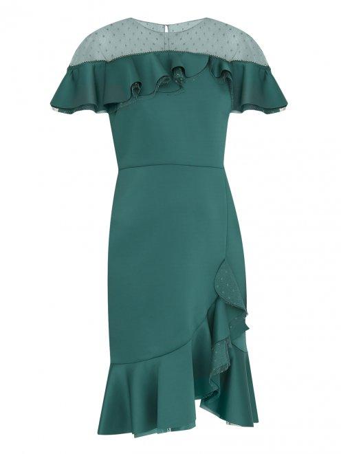Платье-футляр с полупрозрачной вставкой - Общий вид