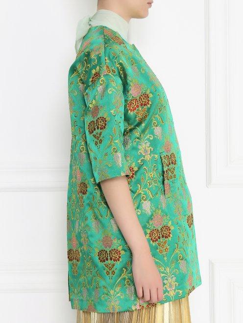 Легкое пальто с цветочным узором - Модель Верх-Низ2