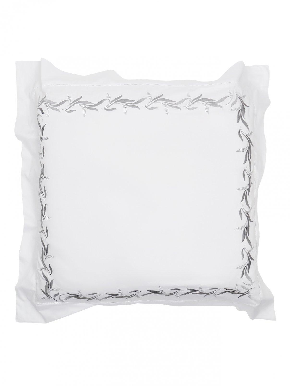 Наволочка из хлопка с узорной вышивкой по канту 65 x 65 Frette  –  Общий вид