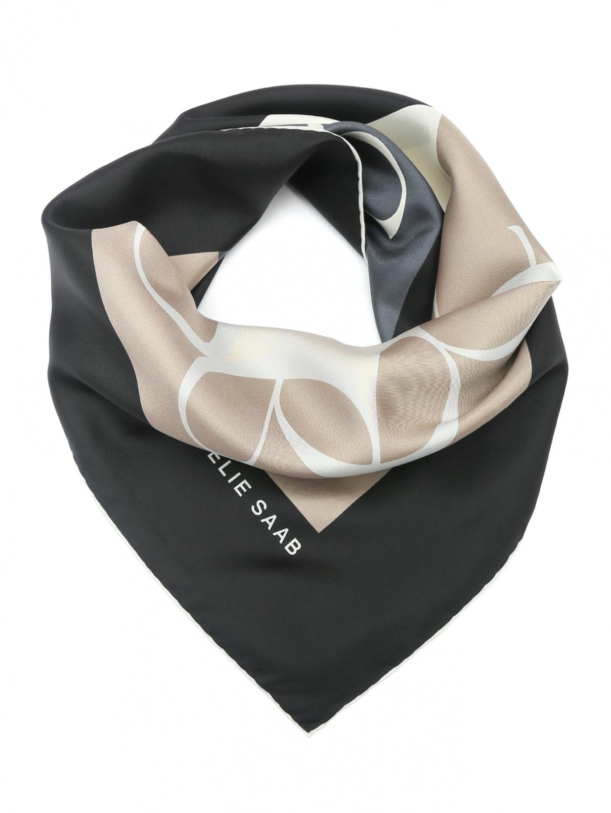 Платок из шелка с узором Elie Saab  –  Общий вид