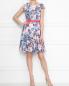 Платье-мини без рукавов с узором под пояс Max&Co  –  МодельОбщийВид