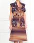 Платье из смешанного хлопка с узором Kenzo  –  Модель Верх-Низ