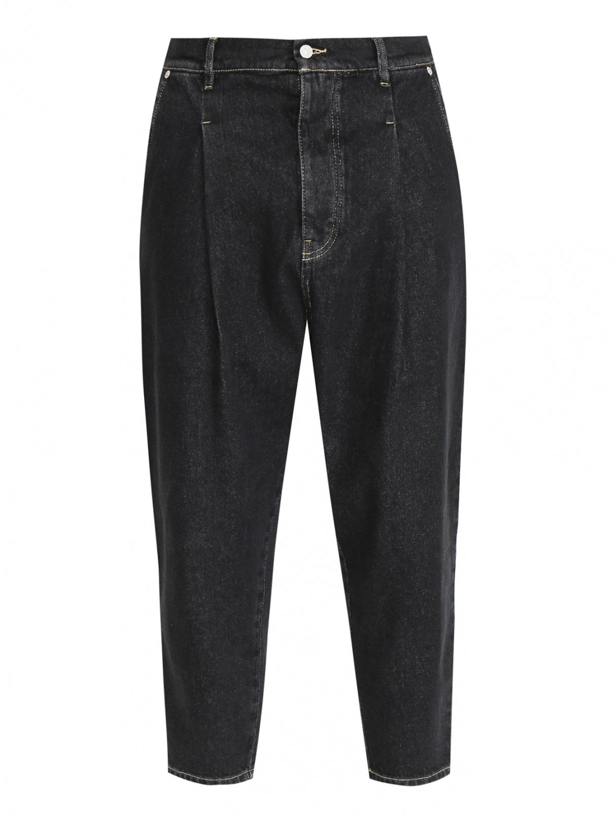 Укороченные джинсы из темного денима DrOle de Monsieur  –  Общий вид
