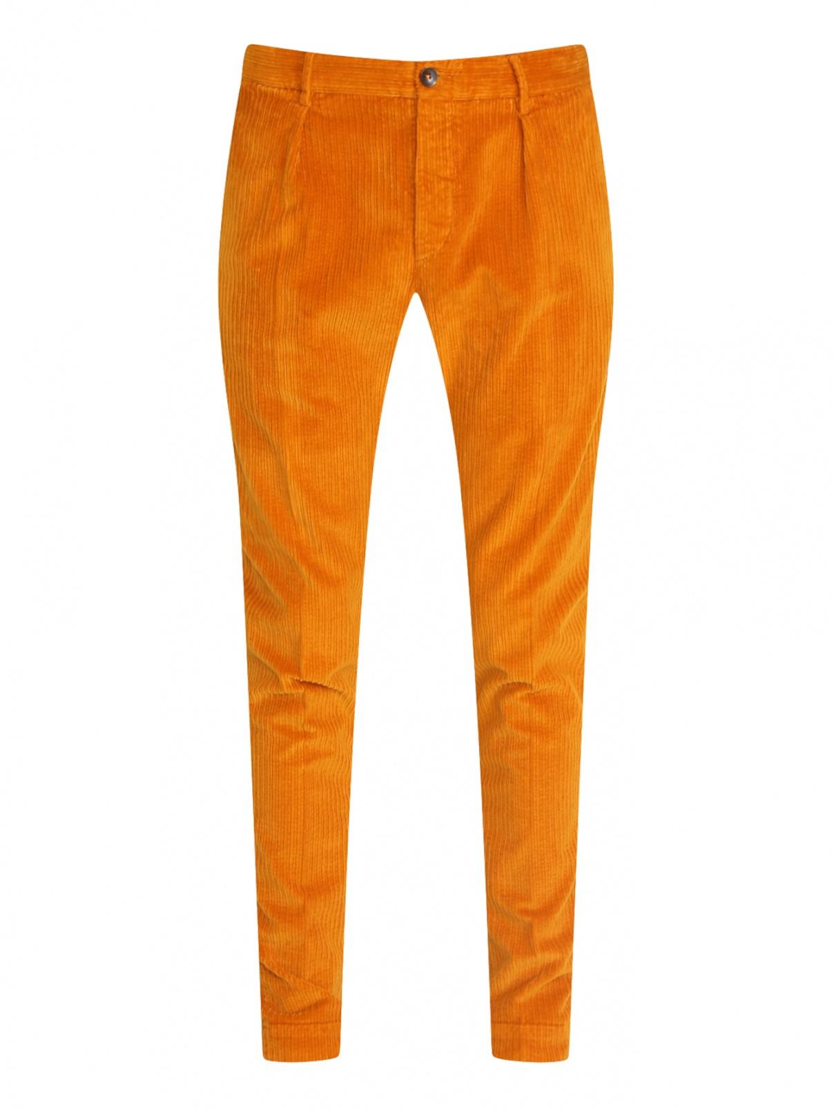 Вельветовые брюки из хлопка Incotex  –  Общий вид